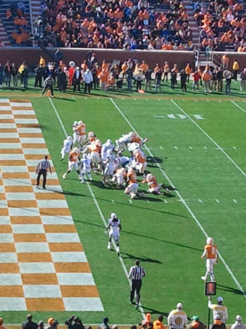 Seating view for Neyland Stadium Section G Row 54 Seat 18-19