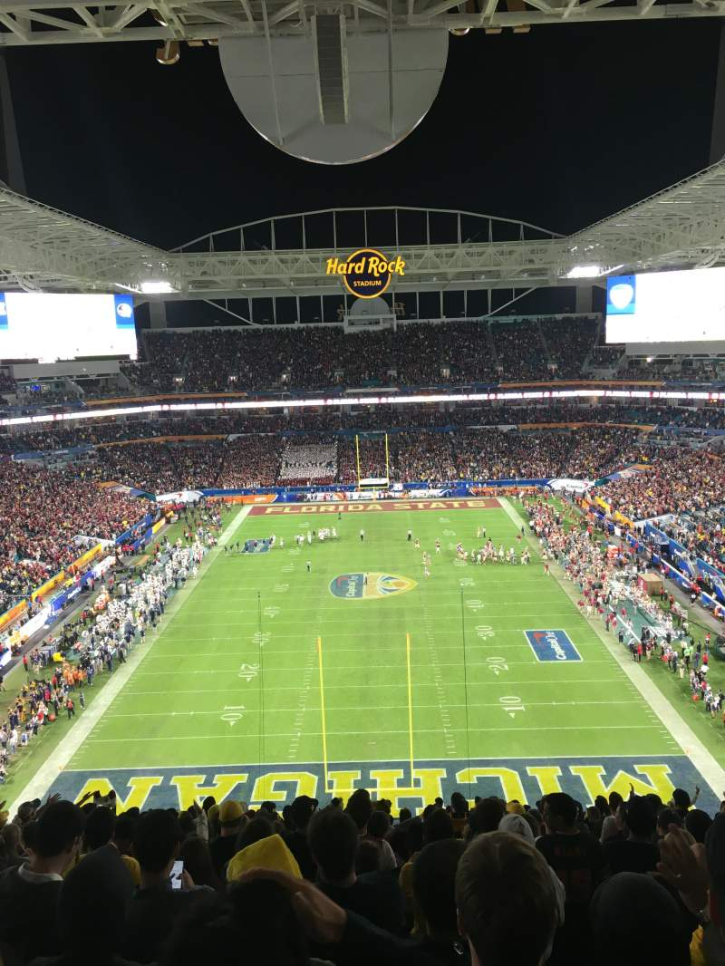 Seating view for Hard Rock Stadium Section 304 Row 24 Seat 10
