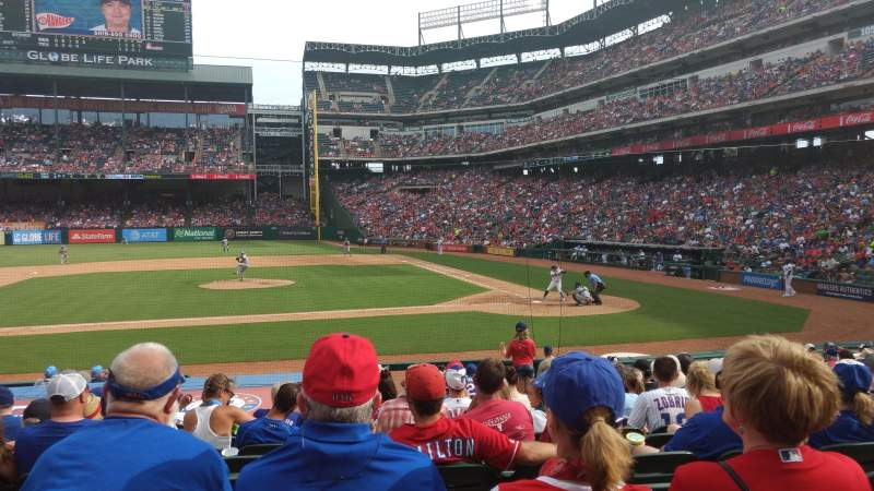 Seating view for Globe Life Park in Arlington Section 20 Row 14 Seat 12