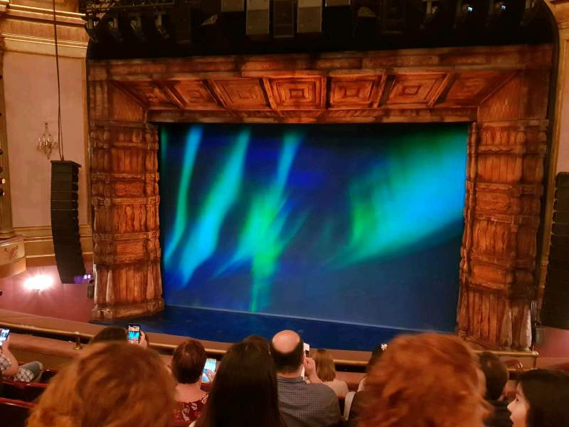 Seating view for St. James Theatre Section Mezzanine C Row F Seat 102
