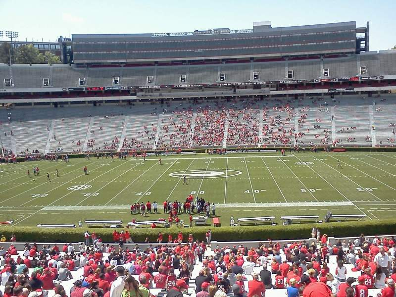 Seating view for Sanford Stadium Section 106 Row 15