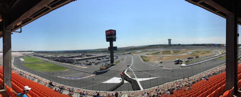 Seating view for Charlotte Motor Speedway Section New Veranda C Row 41