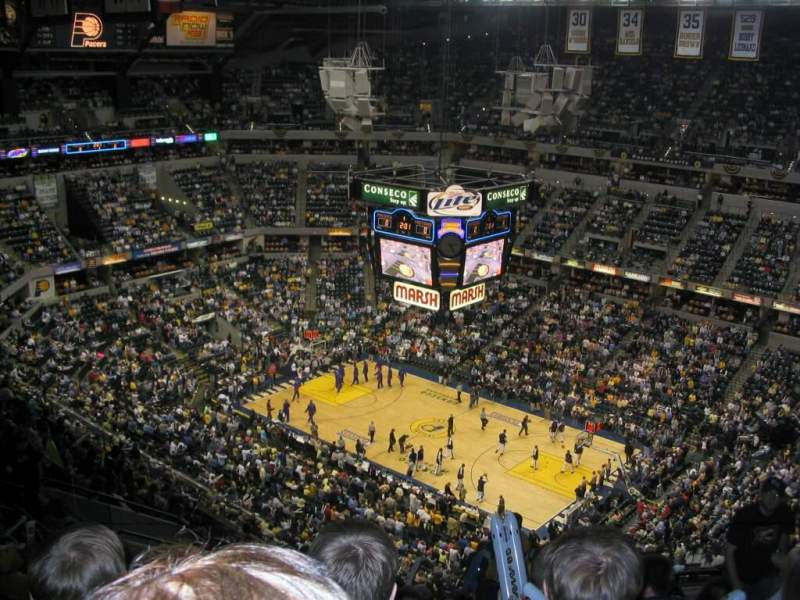 Seating view for Bankers Life Fieldhouse Section 206