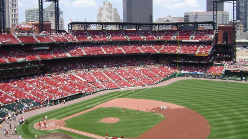 Seating view for Busch Stadium Section 439 Row 5 Seat 22