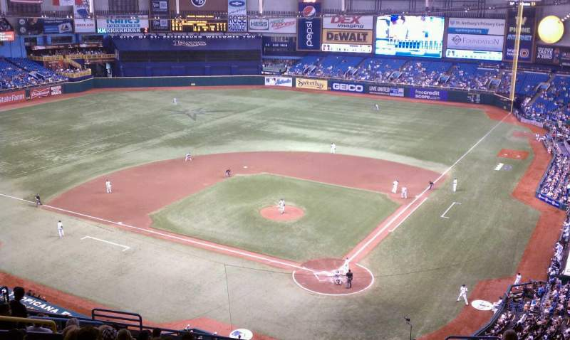 Seating view for Tropicana Field Section 303 Row H Seat 3