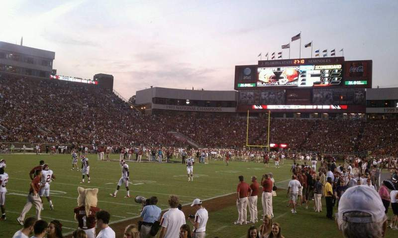 Seating view for Bobby Bowden Field at Doak Campbell Stadium Section 14 Row 1