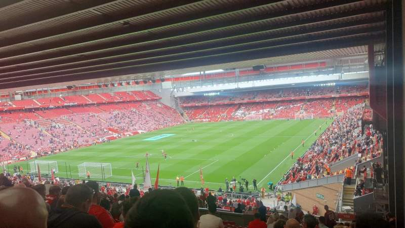 Seating view for Anfield Section 208 Row 59 Seat 2