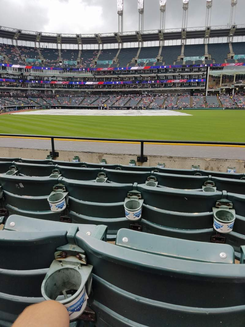 Seating view for Progressive Field Section 109 Row E Seat 19