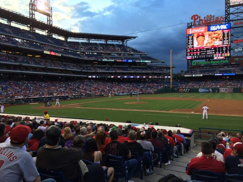 Seating view for Citizens Bank Park Section 115 Row 16 Seat 17