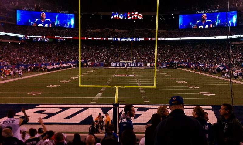 Seating view for MetLife Stadium Section 126 Row 13 Seat 10