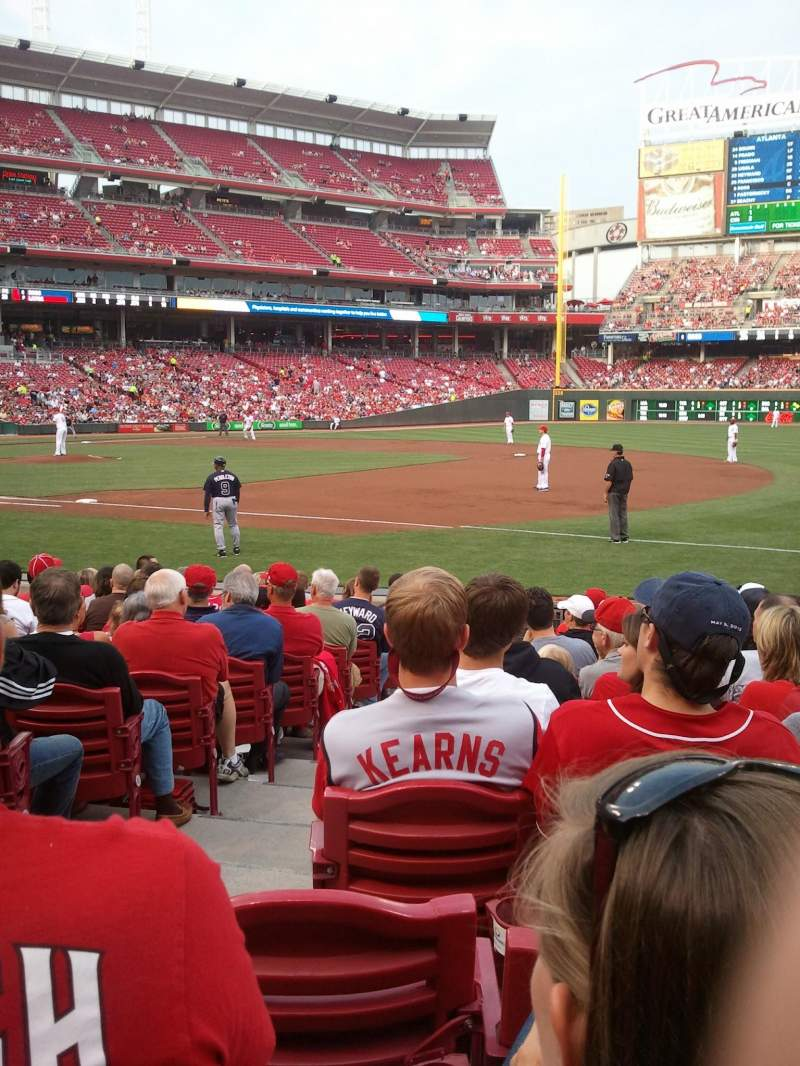 Seating view for Great American Ball Park Section 133 Row M Seat 14