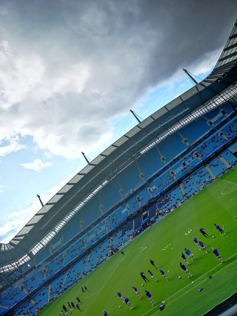 Seating view for Etihad Stadium (Manchester) Section 104 Row 2 Seat 69