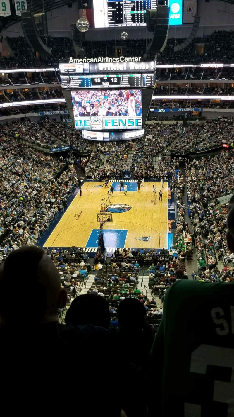 Seating view for American Airlines Center Section 334 Row D Seat 13