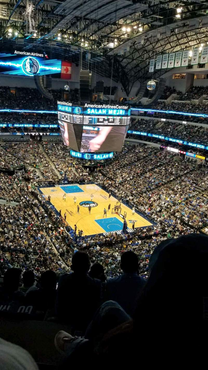 Seating view for American Airlines Center Section 320 Row G Seat 18