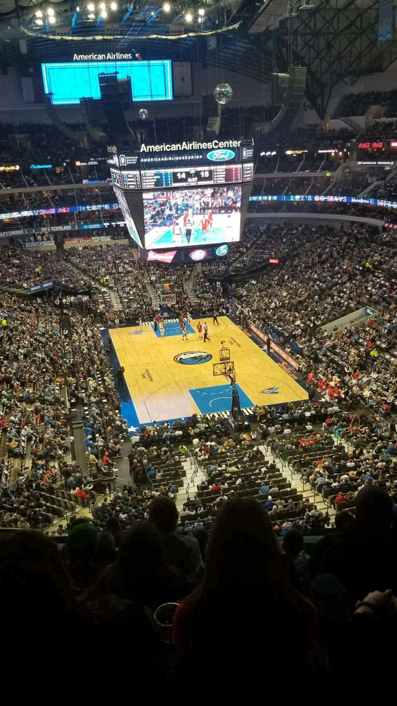 Seating view for American Airlines Center Section 302 Row D Seat 12