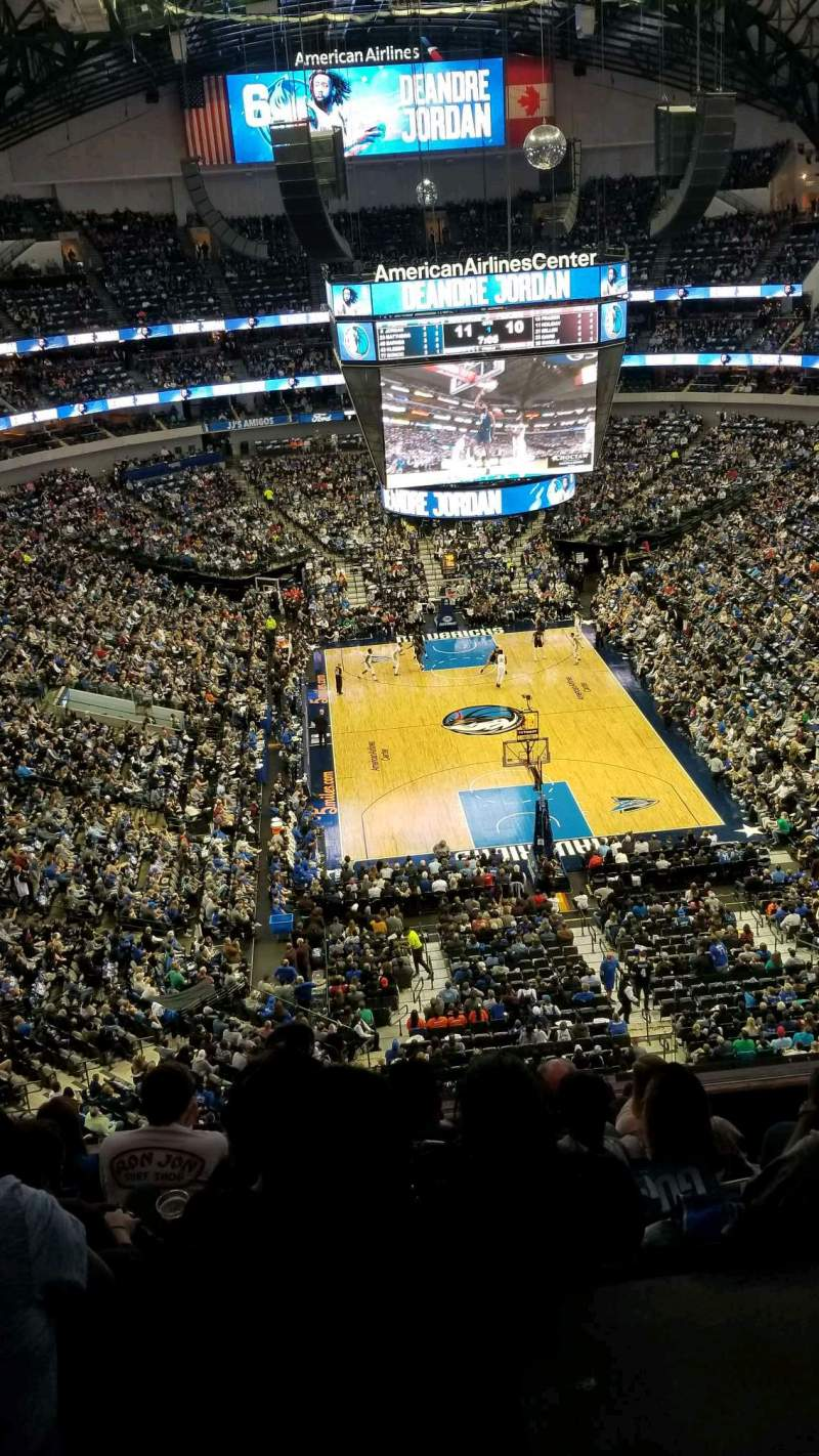 Seating view for American Airlines Center Section 319 Row G Seat 4