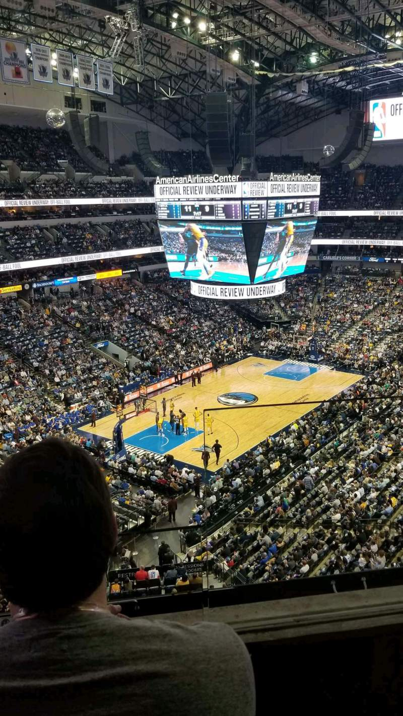 Seating view for American Airlines Center Section 315 Row B Seat 1