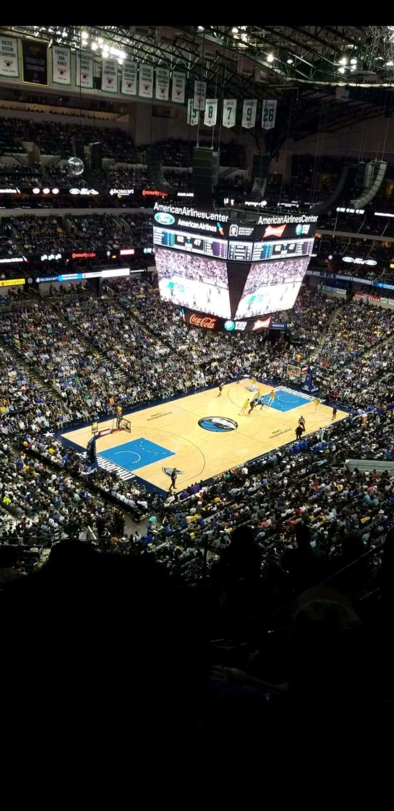 Seating view for American Airlines Center Section 331 Row K Seat 10