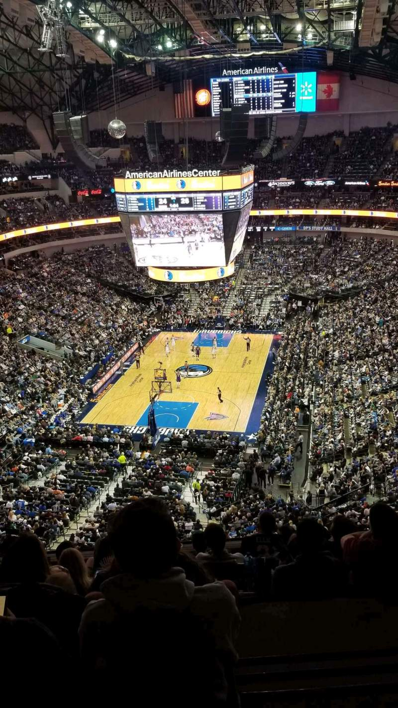 Seating view for American Airlines Center Section 317 Row H Seat 4