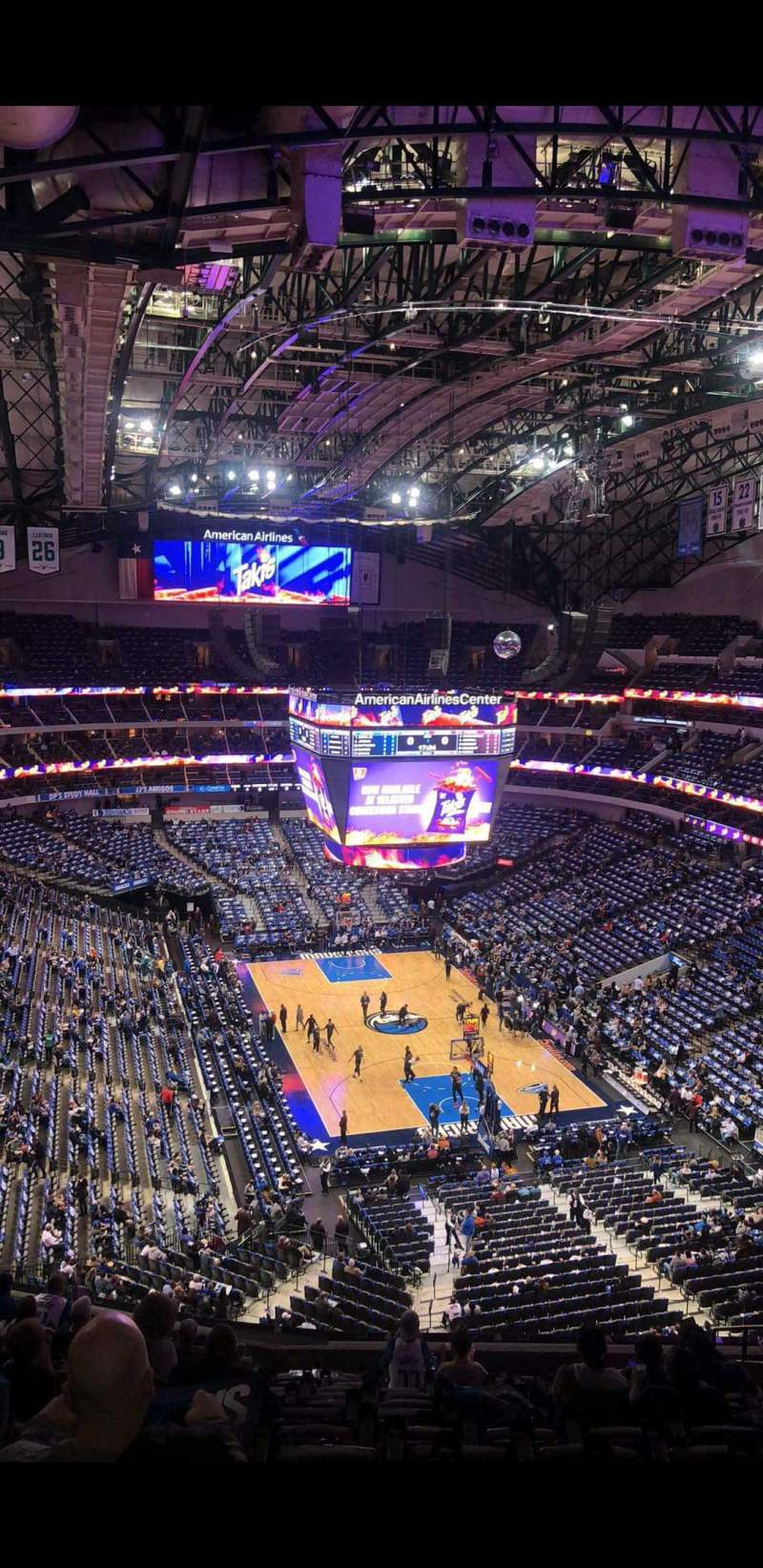 Seating view for American Airlines Center Section 303 Row J Seat 5