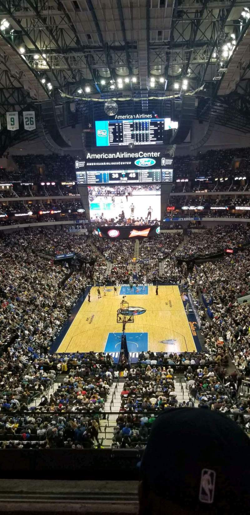 Seating view for American Airlines Center Section 301 Row BB Seat 4