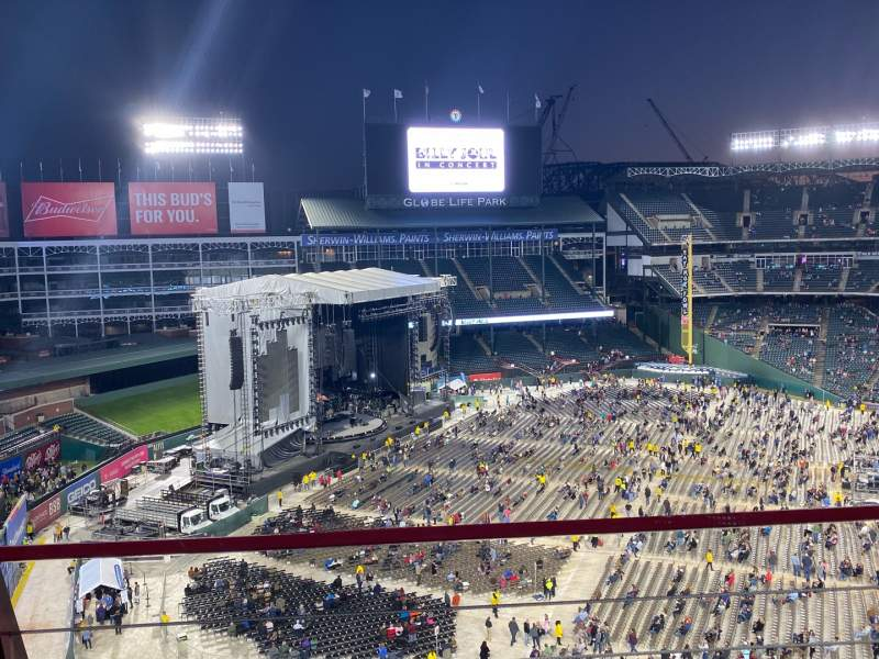 Seating view for Globe Life Park in Arlington Section 312 Row 2 Seat 11