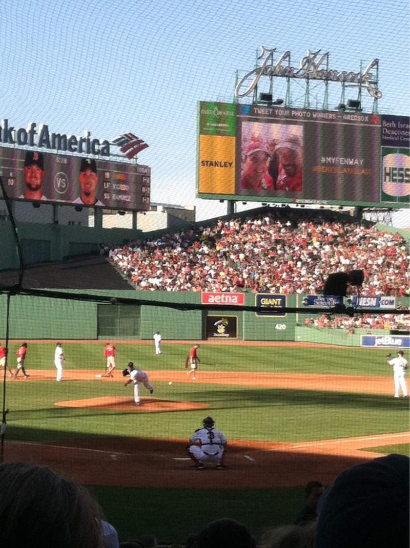 Seating view for Fenway Park Section Loge Box 132 Row DD Seat 2