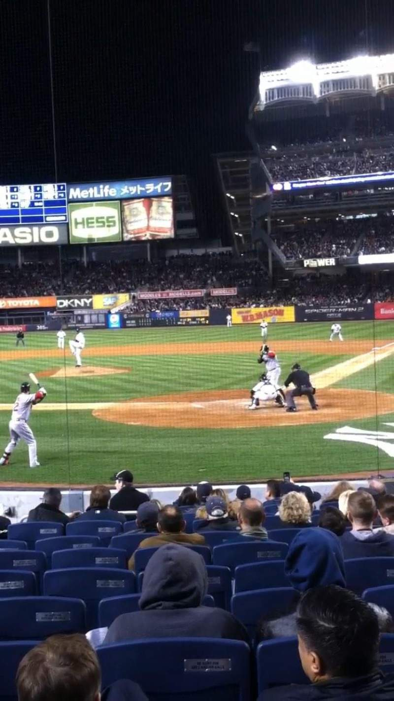Seating view for Yankee Stadium Section 121B Row 16 Seat 1