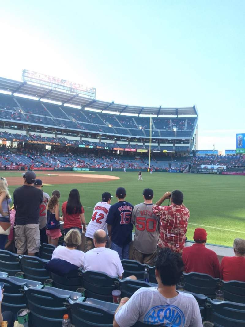 Seating view for Angel Stadium Section F129 Row F Seat A