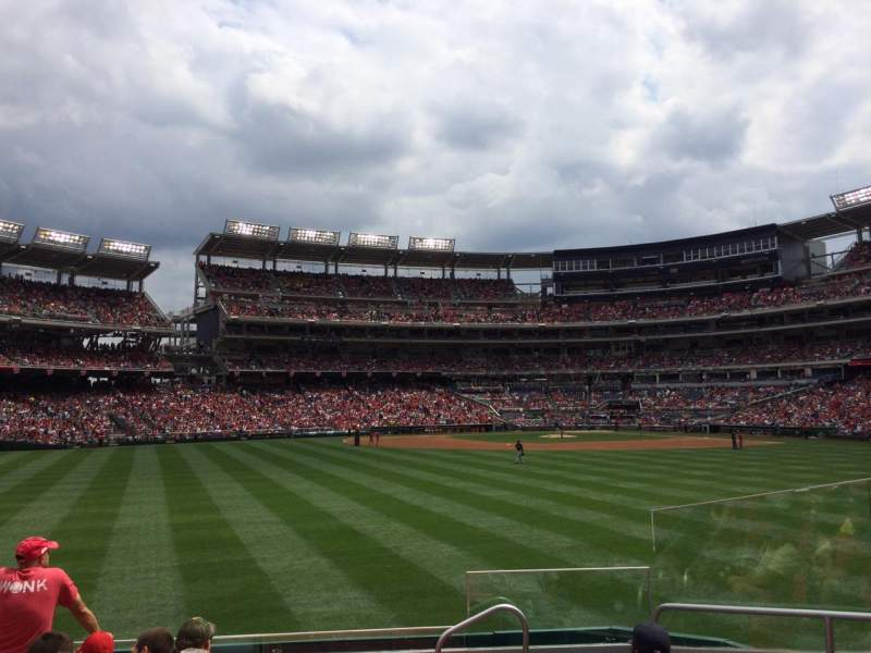 Seating view for Nationals Park Section 100 Row G Seat 8