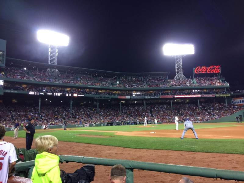 Seating view for Fenway Park Section Field Box 19 Row B Seat 1