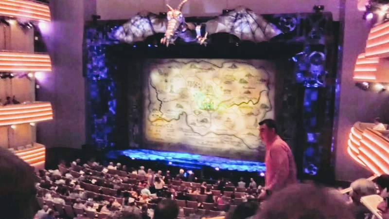 Seating view for Overture Hall Section Circle C Row D Seat 245