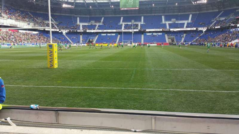 Seating view for Red Bull Arena Section 117 Row 1 Seat 20