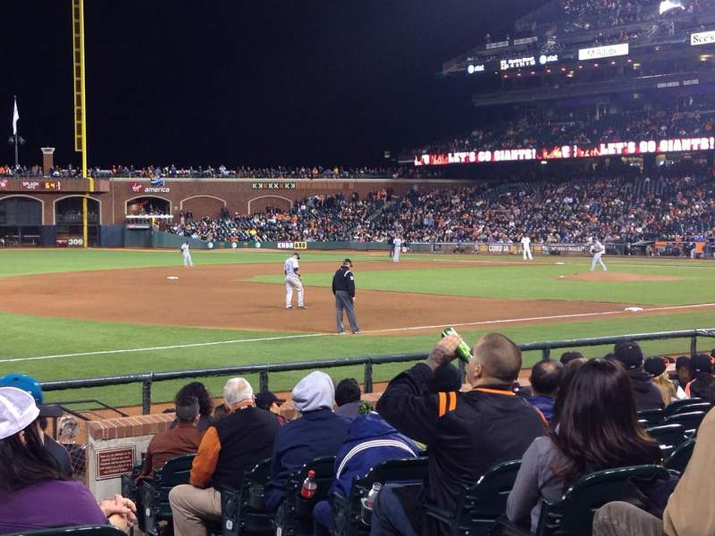 Seating view for AT&T Park Section 127 Row 12 Seat 2