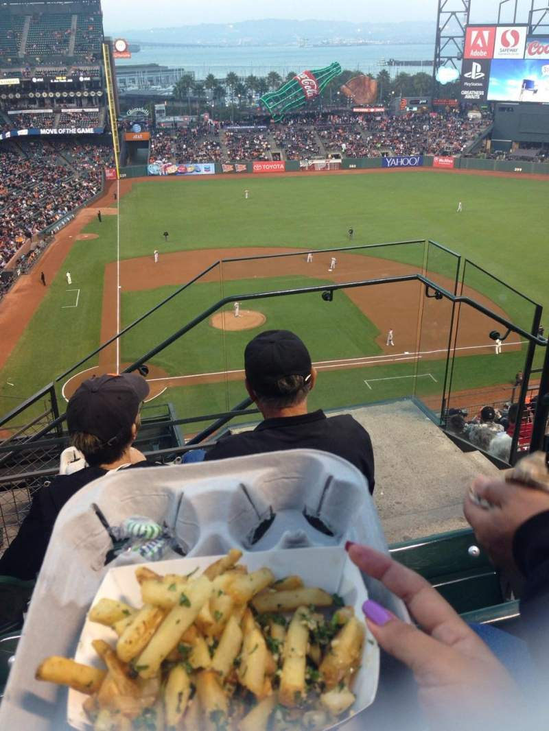 Seating view for AT&T Park Section 311 Row 3 Seat 2