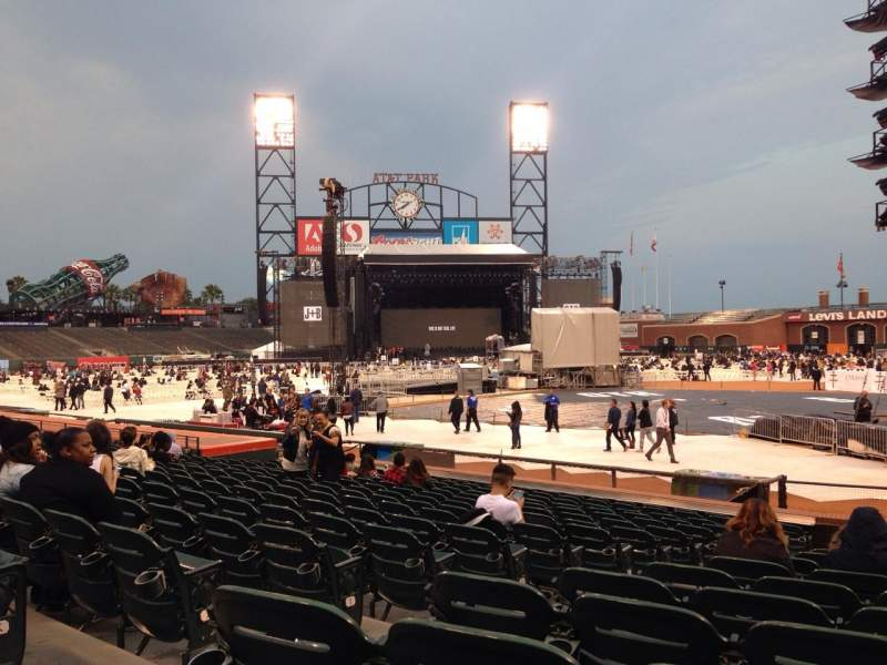 Seating view for AT&T Park Section 119 Row M