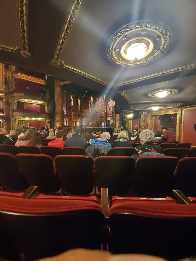 Seating view for CIBC Theatre Section Orchestra R Row T Seat 18