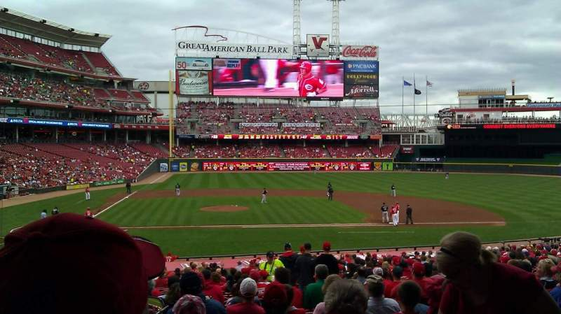 Seating view for Great American Ball Park Section 128 Row JJ Seat 5