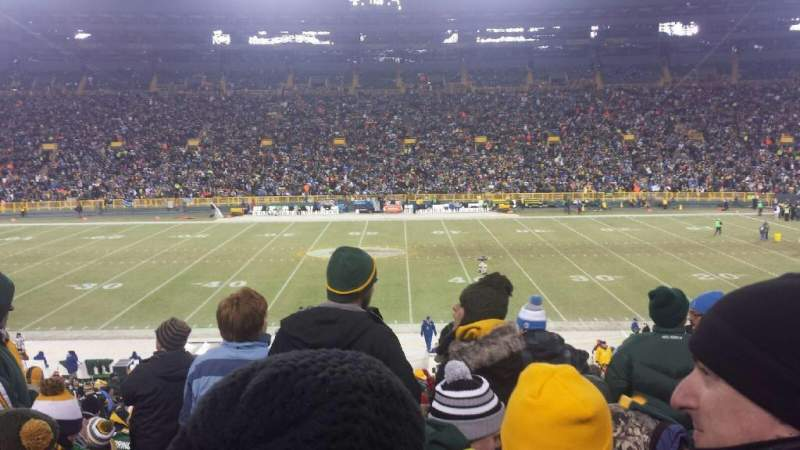 Seating view for Lambeau Field Section 120 Row 38 Seat 22