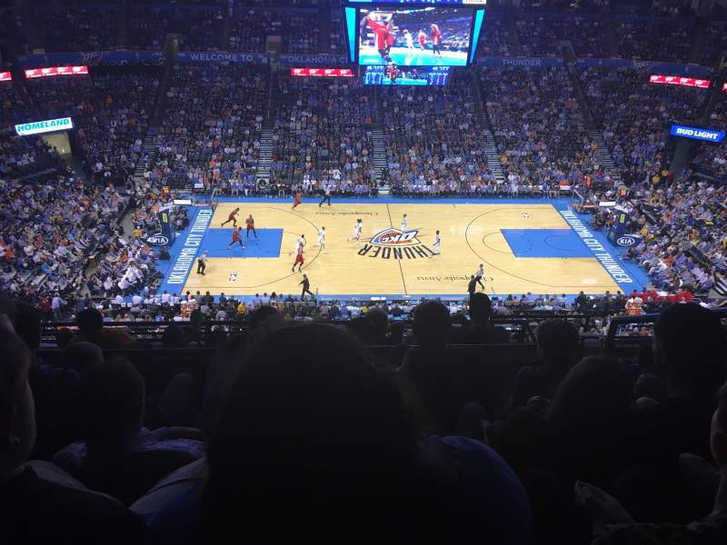 Seating view for Chesapeake Energy Arena Section 324 Row H Seat 11