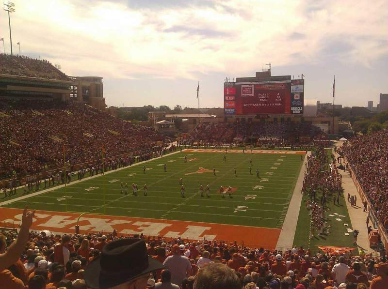 Seating view for Texas Memorial Stadium Section 15 Row 52 Seat 1