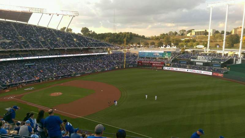 Seating view for Kauffman Stadium Section 435 Row L Seat 16