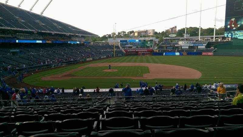 Seating view for Kauffman Stadium Section 234 Row KK Seat 12