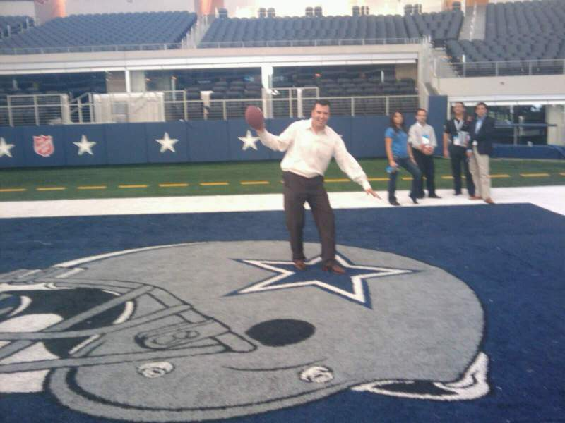 Seating view for AT&T Stadium Section Endzone Row 1 Seat 1