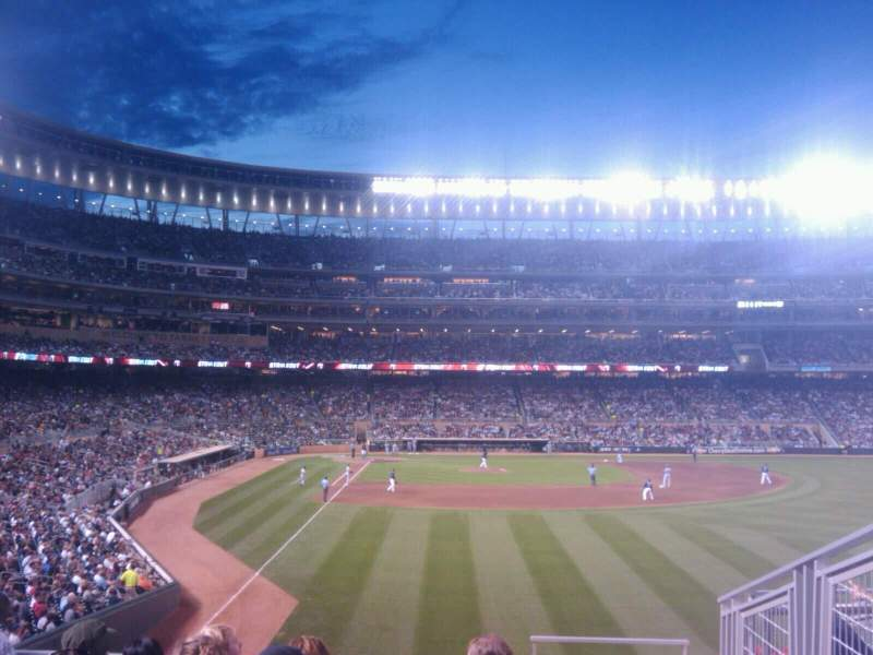 Seating view for Target Field Section 139 Row 4 Seat 11
