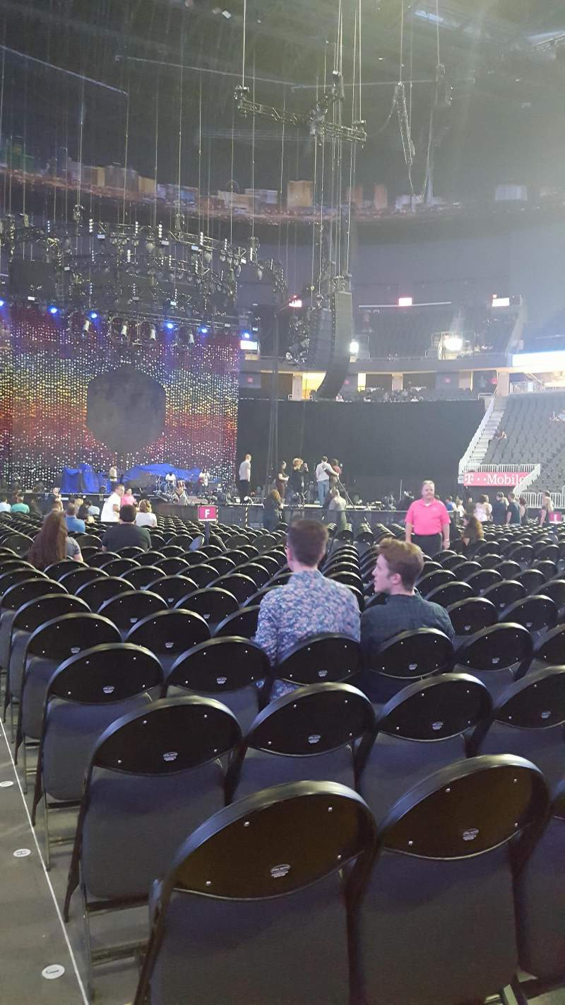 Seating view for T-Mobile Arena Section Floor J Row M Seat 1 and 2