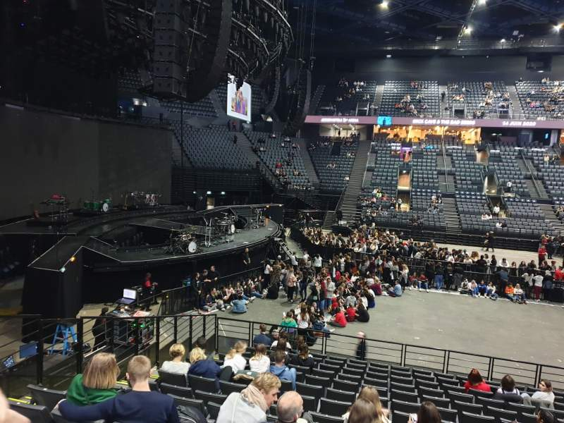Seating view for AccorHotels Arena Section N Row 14 Seat 31