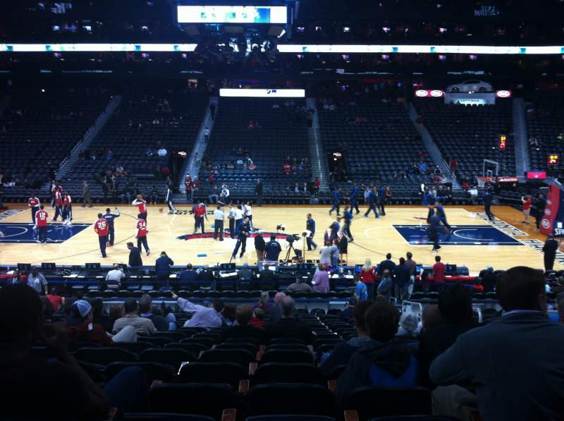 Seating view for Philips Arena Section 115 Row U Seat 4