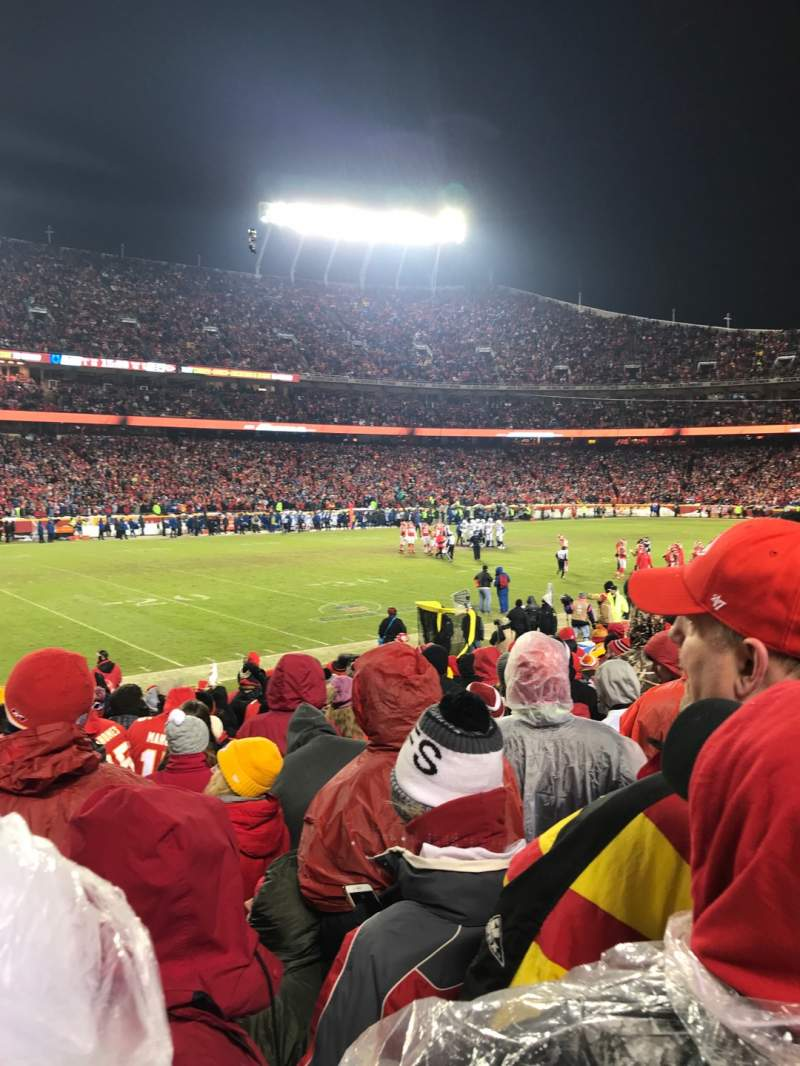 Seating view for Arrowhead Stadium Section 122 Row 13 Seat 15