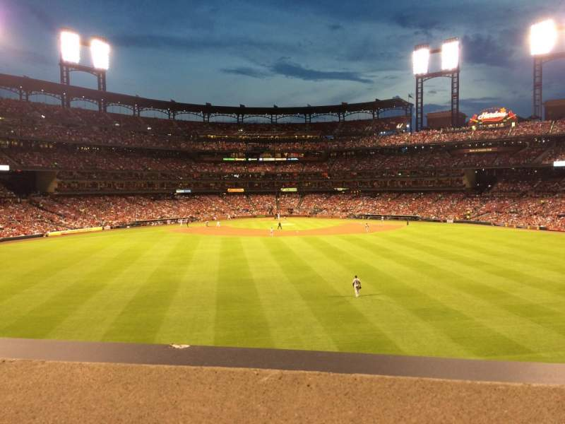 Seating view for Busch Stadium Section SBP Row A Seat 53